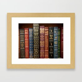 Bibliophile Framed Art Print