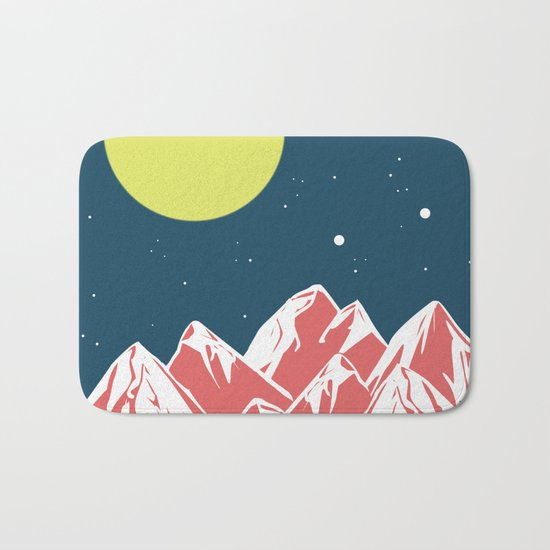 galactic mountains Bath Mat
