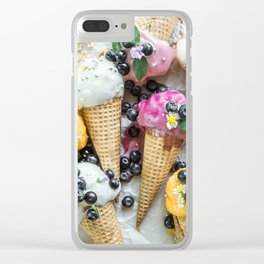 ice cream Clear iPhone Case