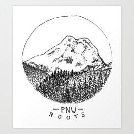 Pacific Northwest Roots Art Print