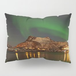 Landscape with the Northern Lights Pillow Sham