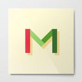 M Metal Print