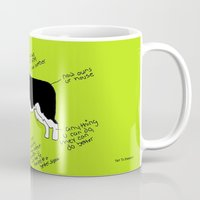 border collie Mugs featuring Border Collie by Lindsay Beth