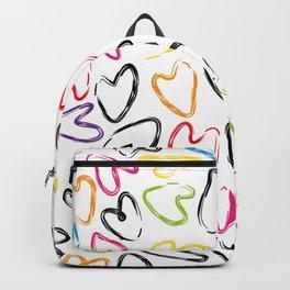 hearts doodle pattern Backpack
