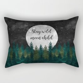 Stay Wild Moon Child Rectangular Pillow