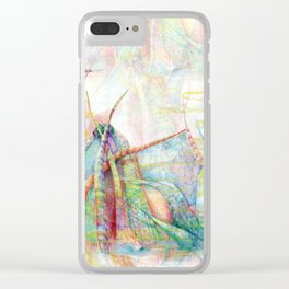 Vegetal color chaos Clear iPhone Case