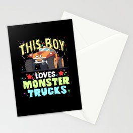 This Boy Loves Monster Trucks Offroad Love Stationery Cards