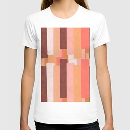 Line In Coral #society6 #abstractart T-shirt