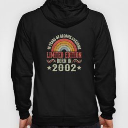18 Years Birthday Limited Edition Born 2002 Hoody