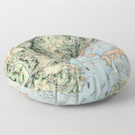 1937 Vintage map of Japan, Korea, Russia and China Floor Pillow