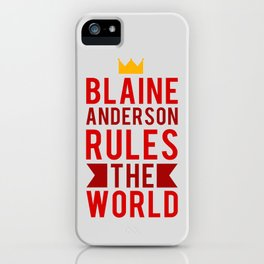 Blaine Anderson Rules The World iPhone Case