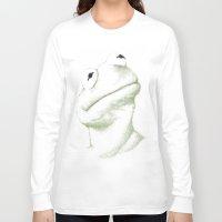 kermit Long Sleeve T-shirts featuring Kermit Linear Curve Art by Rene Alberto