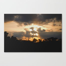 A Face In The Clouds Canvas Print