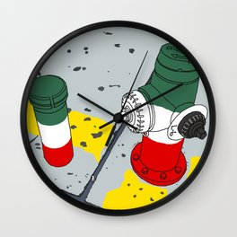 Little Italy in New York Wall Clock