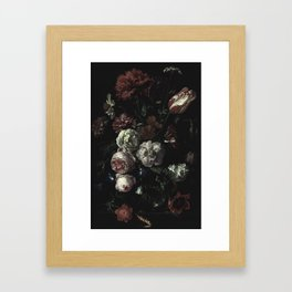 Arms Full Of Flowers II [antique painting remixed] Framed Art Print
