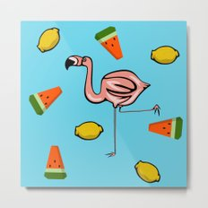 Flamingo Tropical Metal Print