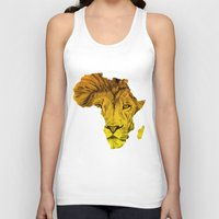musa Tank Tops featuring King Of The Jungle! by DeMoose_Art