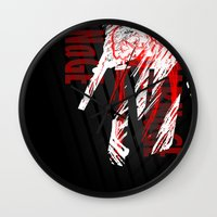 carnage Wall Clocks featuring CARNaGE by Psychojoe151