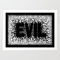 evil Art Prints featuring Evil by GruseArt