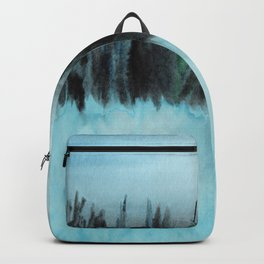 Dark Forest Across the Icy Lake Backpack
