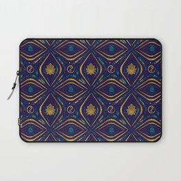 Lotus and OM symbol Luxury Pattern Laptop Sleeve