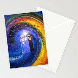Tardis Doctor Who Fly into Time Vortex Stationery Cards