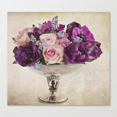Paint with flowers Canvas Print