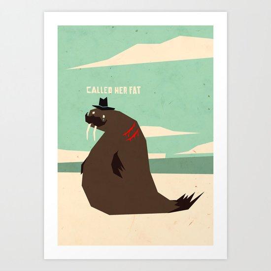 W is for walrus Art Print