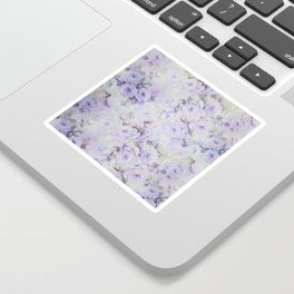 Vintage lavender gray botanical roses floral Sticker