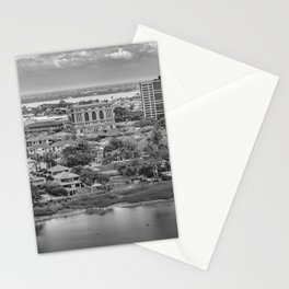 Guayaquil Aerial View from Window Plane Stationery Cards
