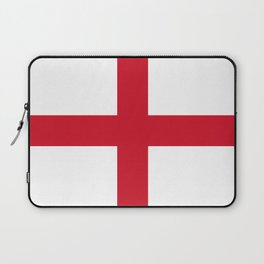 Flag of England (St. George's Cross) - Authentic version to scale and color Laptop Sleeve