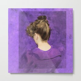 Portrait of a Lady  in Violet Metal Print