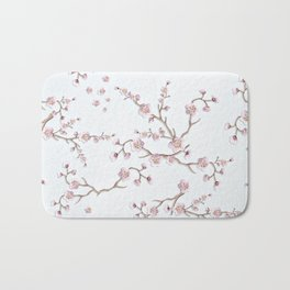 SAKURA LOVE - GRUNGE WHITE Bath Mat