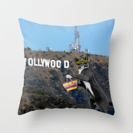 Ray in Hollywood Throw Pillow
