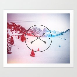 Crossed Arrows Art Print