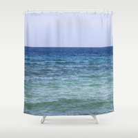 blues Shower Curtains featuring Blues by Noreen Loke