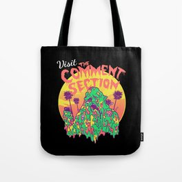 Visit the Comment Section Tote Bag