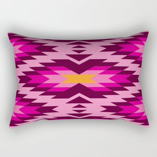 Tribal pattern - pink Rectangular Pillow