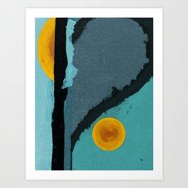 Turquoise Twelve Art Print