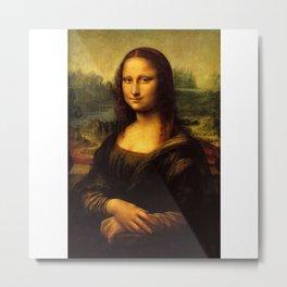 Monalisa, Leonardo Da Vinci, Mona Lisa, original Metal Print