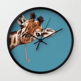 Sneaky Giraffe Wall Clock