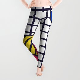 Festive Background in Neo Memphis Style Colorful Decorative pattern Leggings