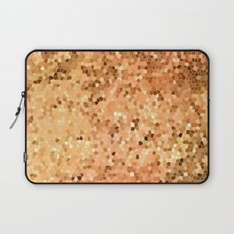 Golden Flames Stained Glass Abstract Laptop Sleeve