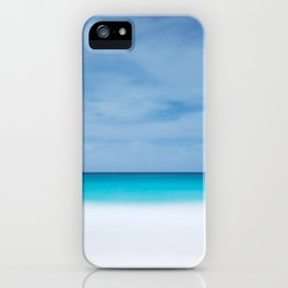 Tropical paradise beach turquoise sea ocean nature travel hipster Caribbean Fiji horizon photograph iPhone Case