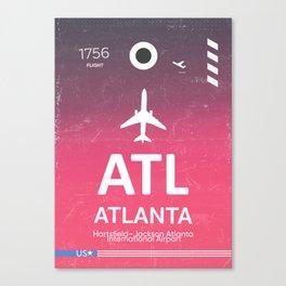 ATL Hartsfield–Jackson Atlanta International Airport Canvas Print
