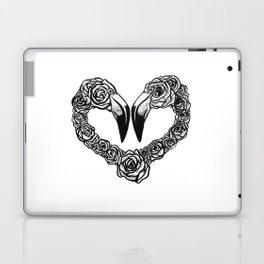 Flamingo Heart Laptop & iPad Skin
