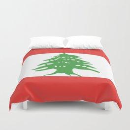 Lebanon flag emblem Duvet Cover