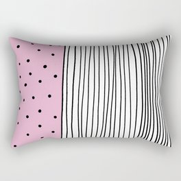 Dots & Stripes in pink Rectangular Pillow