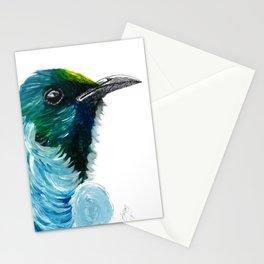 New Zealand Colorful Tui Bird Stationery Cards