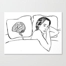 Insomnia Diary 1 Canvas Print